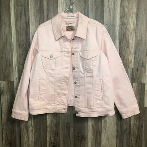 Levi's Pastel Pink Denim Jean Jacket XL